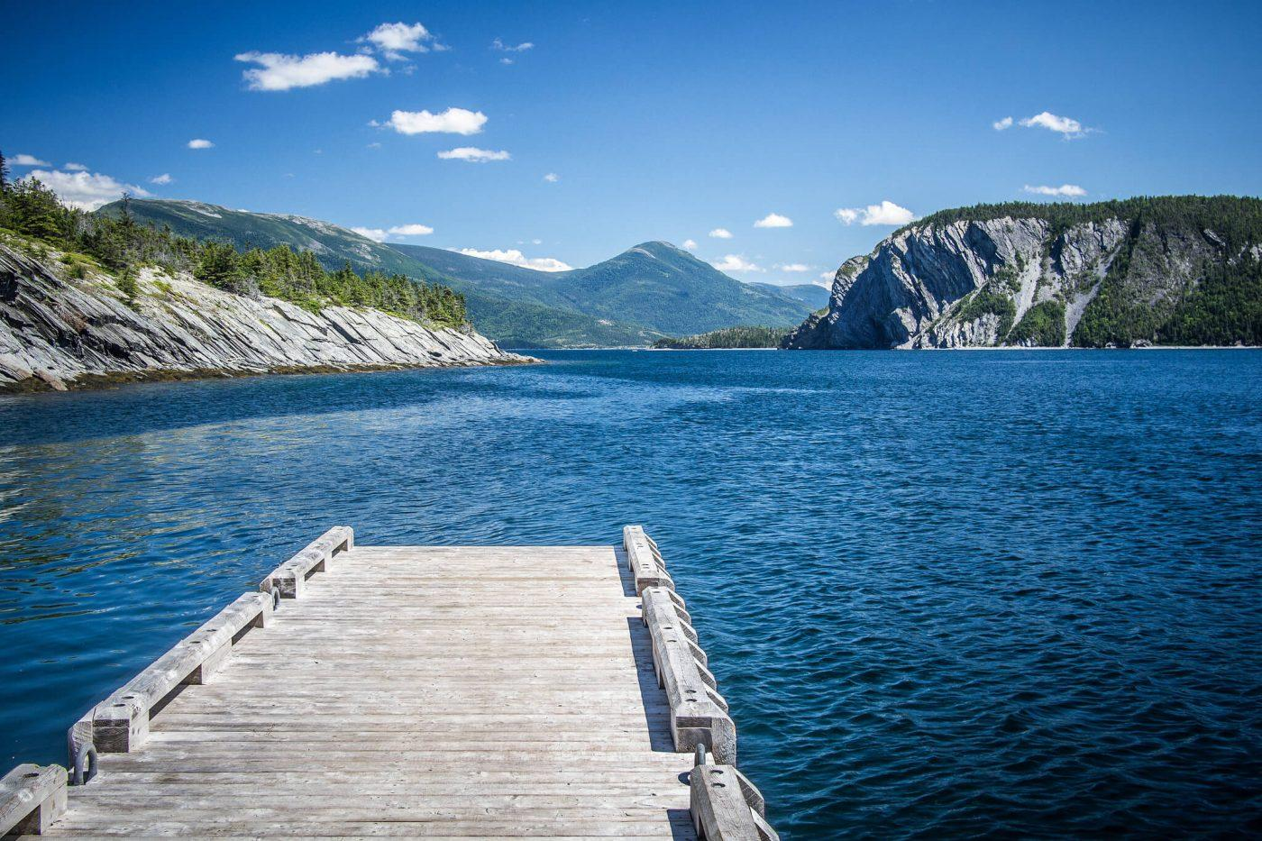 On a pier in Norris Point, by Bonne Bay - Gros Morne National Park, Newfoundland.