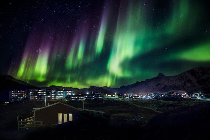 Nothern lights over sisimiut. By Mads Pihl