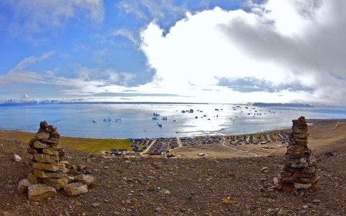 Qaanaaq wide angle shot. Photo by Magssannguaq Qujaukitsoq.