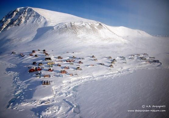 Savissivik in snow. By N. A. Antognelli
