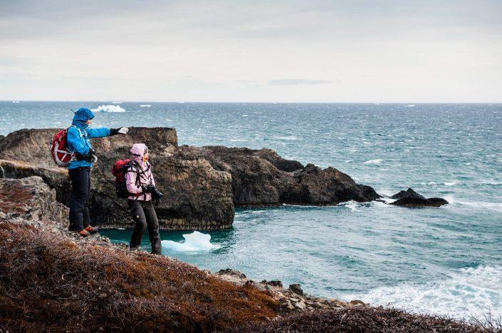 Hiking on Disko Island (Qeqertarsuaq). Photo by Camilla Hylleberg.