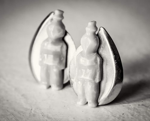 Two tiny ear rings made in Tasiilaq in East Greenland - by Mads Pihl