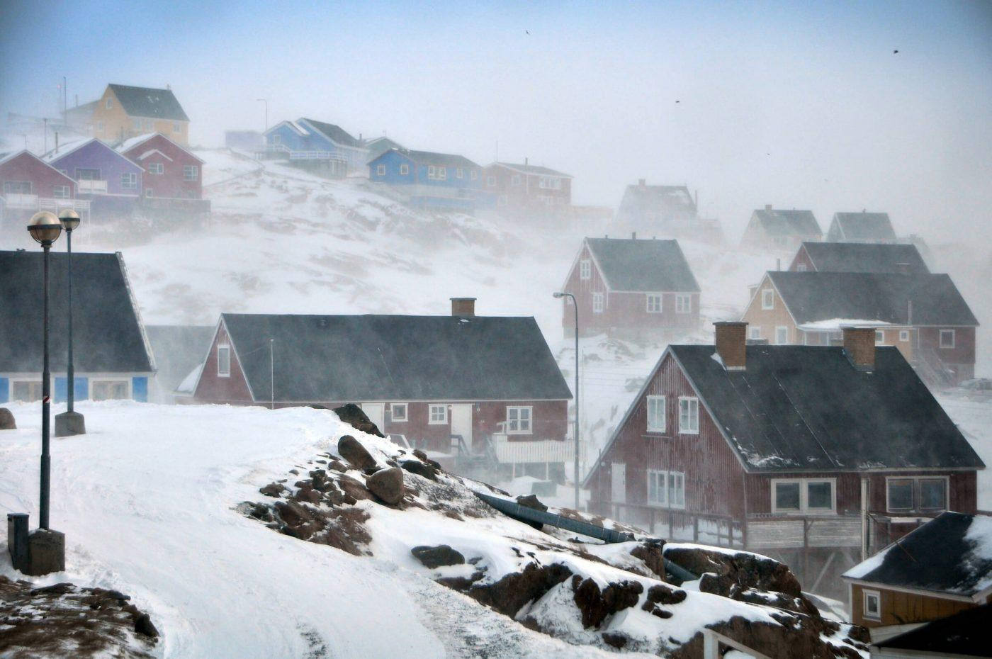 Storm over Sisimiut. Photo by Mads Pihl