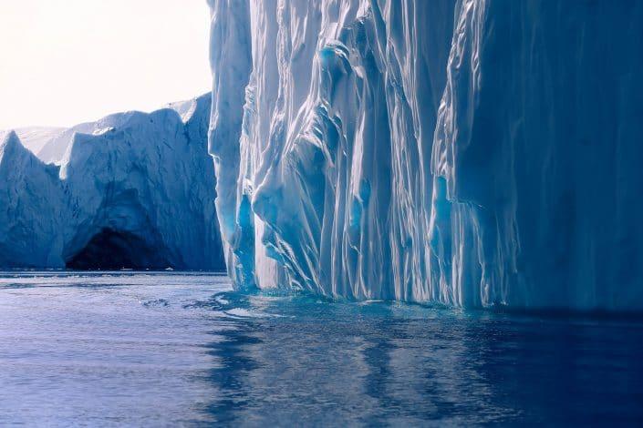 Iceberg folds closeup. Photo by Karim Sahai.