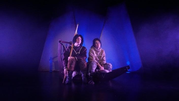 Performers in Juulimaaq a play a play from The National Theatre of Greenland. Visit Greenland