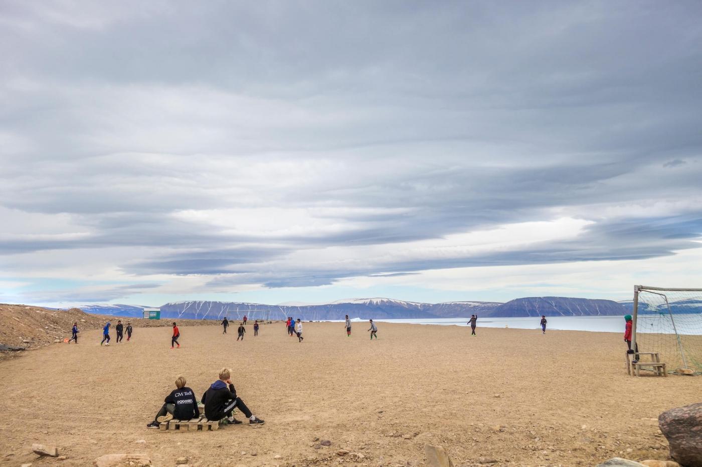 Soccer field in Qaanaaq. Photo by Kim Insuk