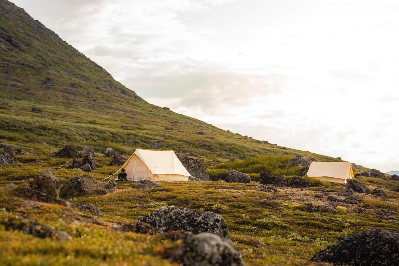 Camp is ready in Tasermiut Fjord, South Greenland - Photo by Aningaaq R Carlsen - Visit Greenland