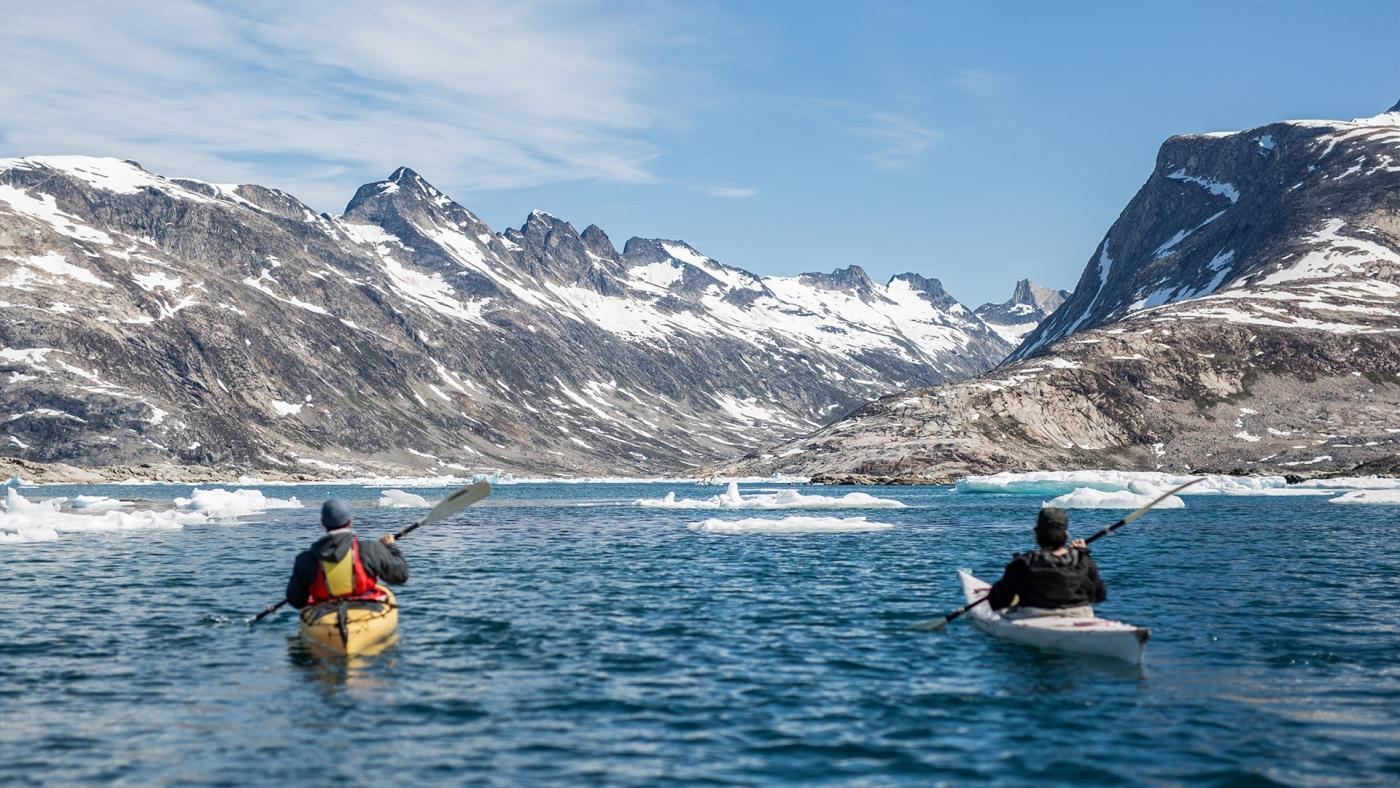 Kayaking in East Greenland_Photo by Aningaaq R Carlsen - Visit Greenland