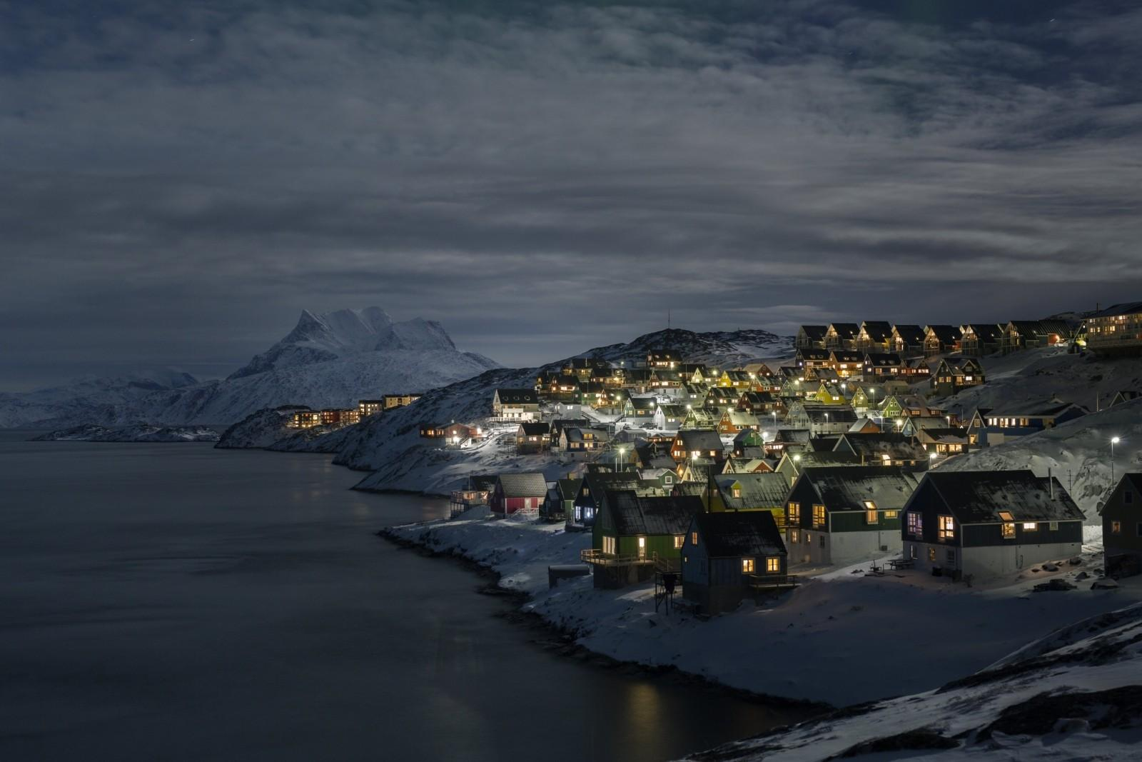 Before-One of the famous viewpoint in Nuuk, the view from Myggedalen