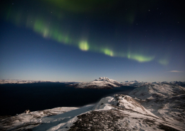 Mountain Night View. Photo by Matthew Littlewood - Visit Greenland