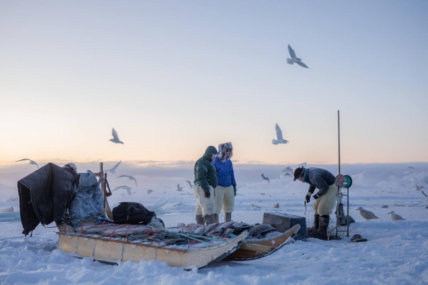 Fishing spot in Ilulissat icefjord. Photo - Aningaaq R. Carlsen, Visit Greenland