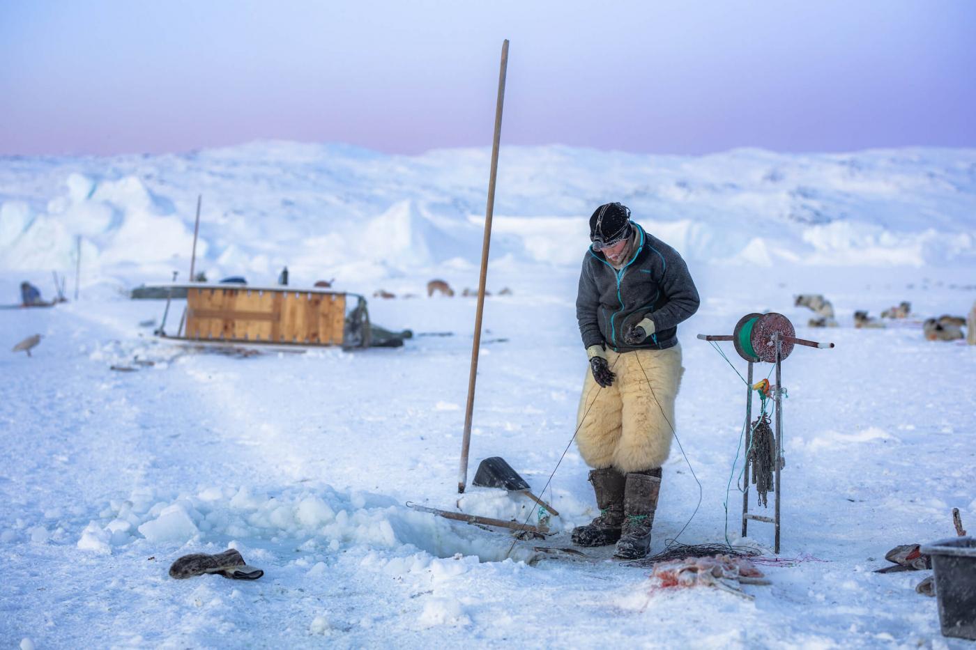 Ice fishing area. Photo - Aningaaq R. Carlsen, Visit Greenland