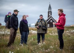 A guided walk in Ilulissat in North Greenland