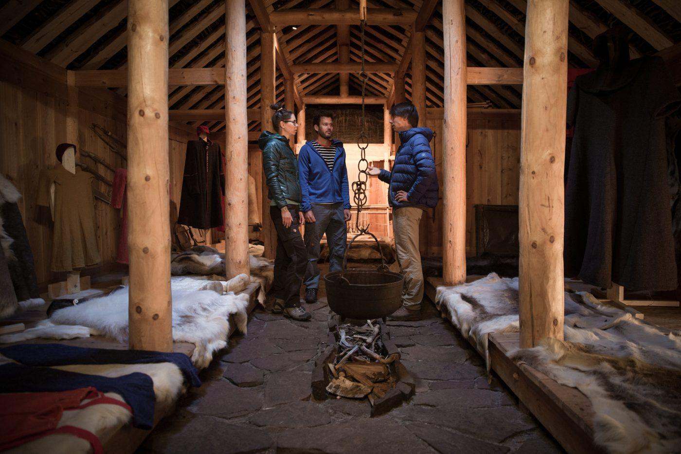 A guided tour inside the Norse longhouse in Qassiarsuk, South Greenland. By Mads Pihl