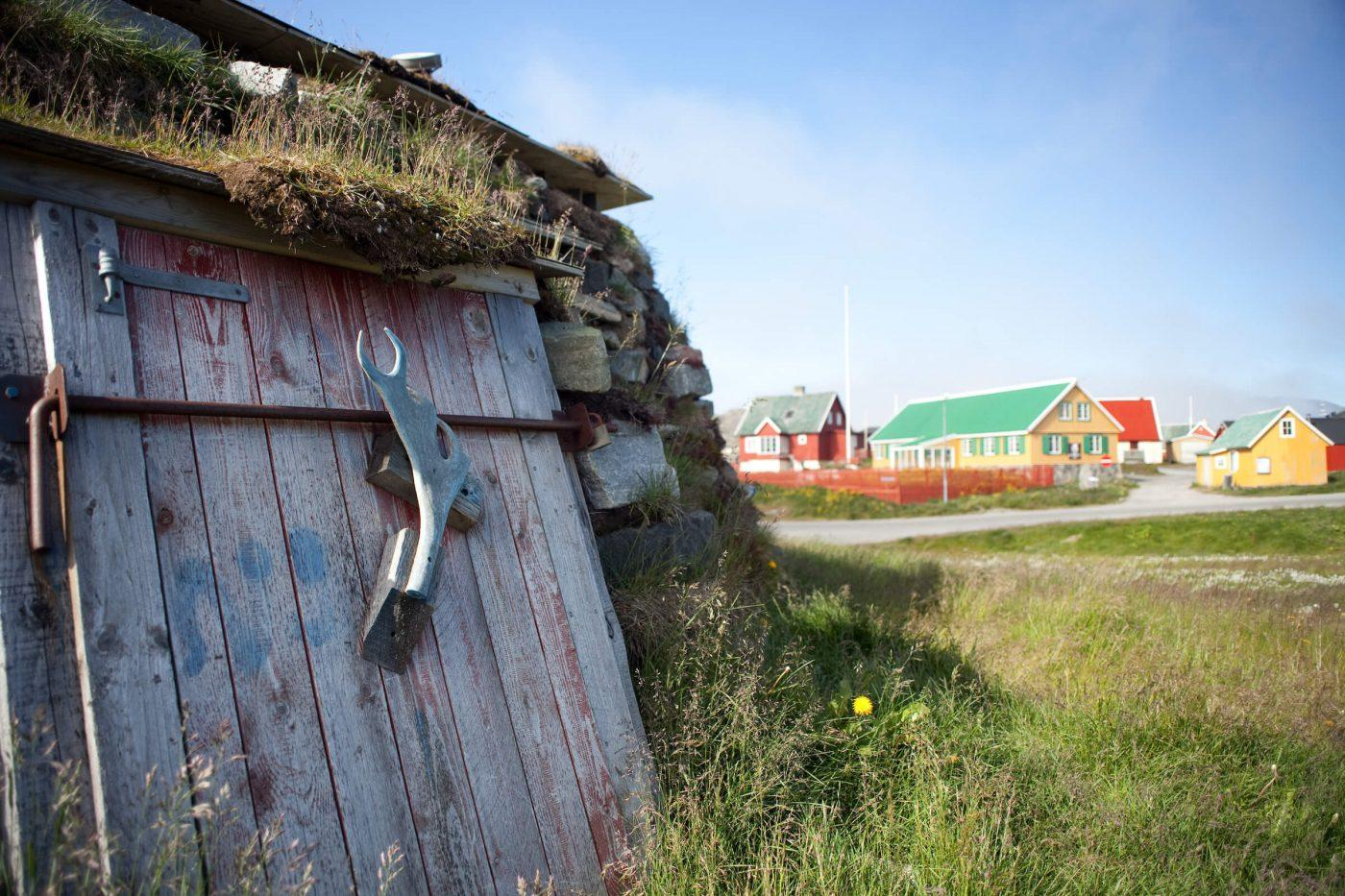 A Turf house from Paamiut in Greenland. By Angu Motzfeldt