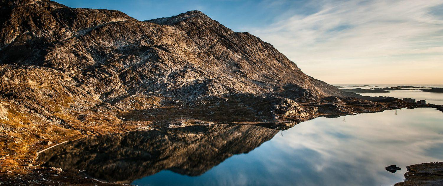 A view of the water reservoir lake Outside Greenlands capital Nuuk. By Camilla Hylleberg