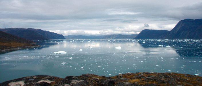 An icy fjord somewhere in South Greenland. Photo by Ella Grødem