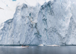 An image of a fisherman's commute in Greenland. The enormous size of these icebergs left me speechless on more than one occasion. By Stian Klo
