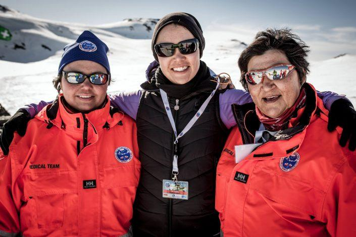 Volunteers at the Arctic Circle Race in Sisimiut