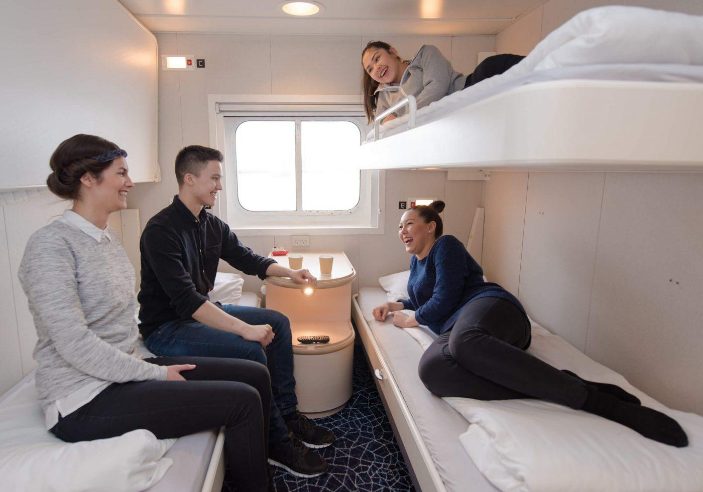 Guests in one of the cabins in Sarfaq Ittuk. Visit Greenland