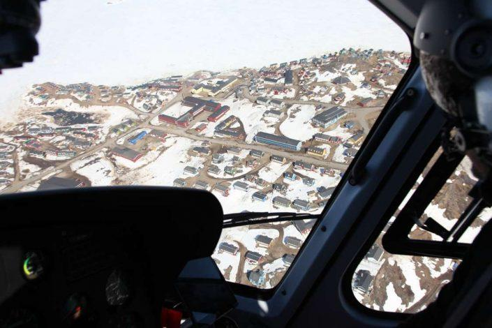 View of a town in East Greenland from above. Photo by Arctic Wonderland Tours, Visit Greenland