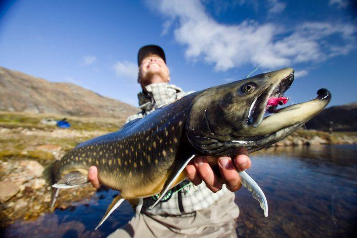 Fishing arctic char in Greenland. Photo by Peter Christensen