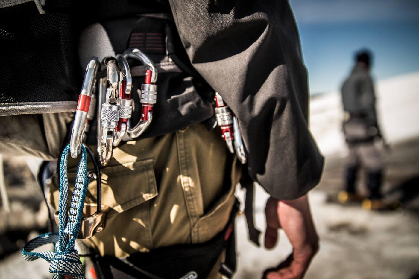 Hiking gear on a Greenland Travel guide in East Greenland. By Mads Pihl
