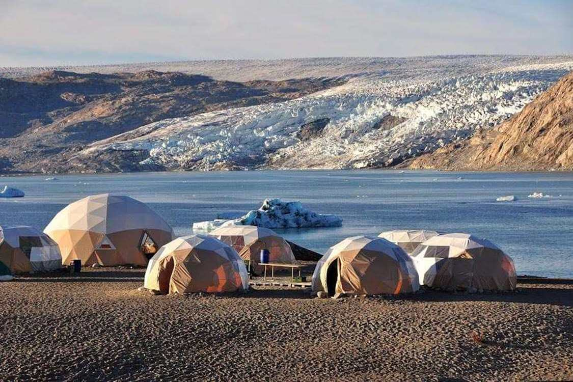 The Qaleraliq glacier camp. Photo by Tasermiut South Greenland Expeditions, Visit Greenland