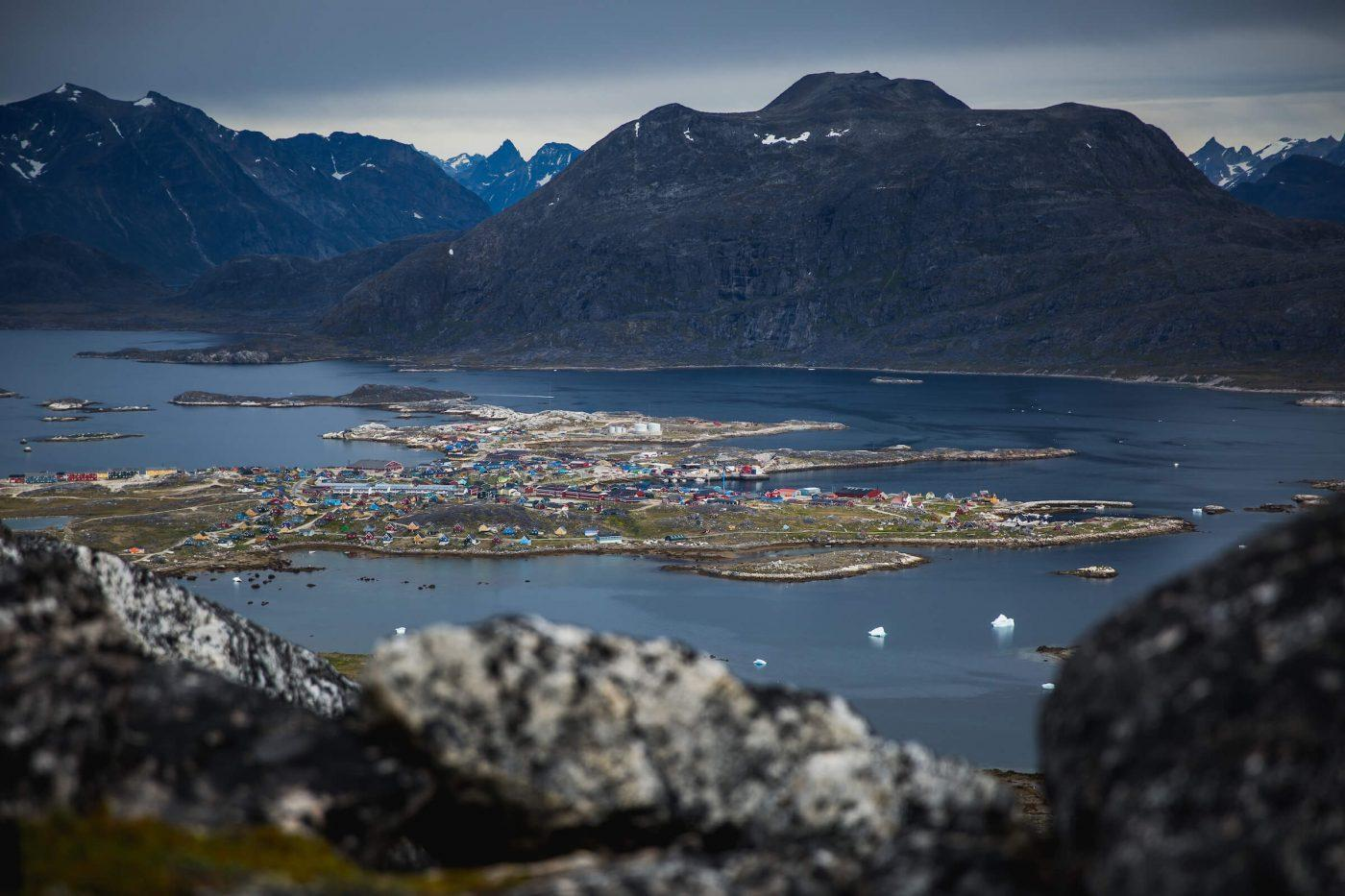 A view of Nanortalik in the southernmost part of South Greenland. Photo by Mads Pihl, Visit Greenland