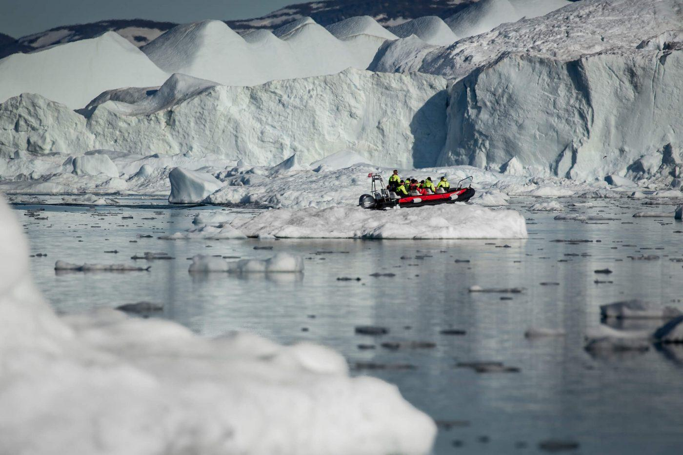 Ice cruising with MS Fram in the Ilulissat Ice Fjord in Greenland. By Mads Pihl