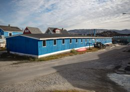 Frontside of hostel in Ilulissat in North Greenland. Photo by Ilulissat Youth Hostel