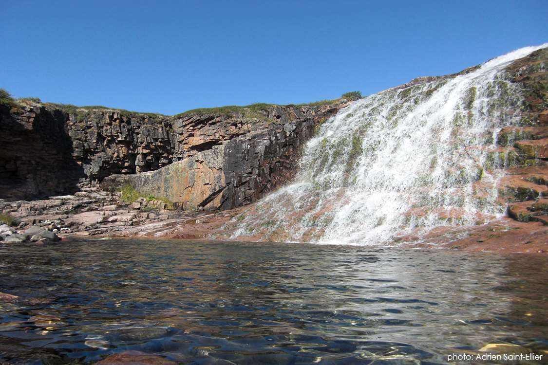 Beautiful waterfall in South Greenland close to Ipiutaq Guest Farm in Summer. Photo by Adrien Saint-Ellier