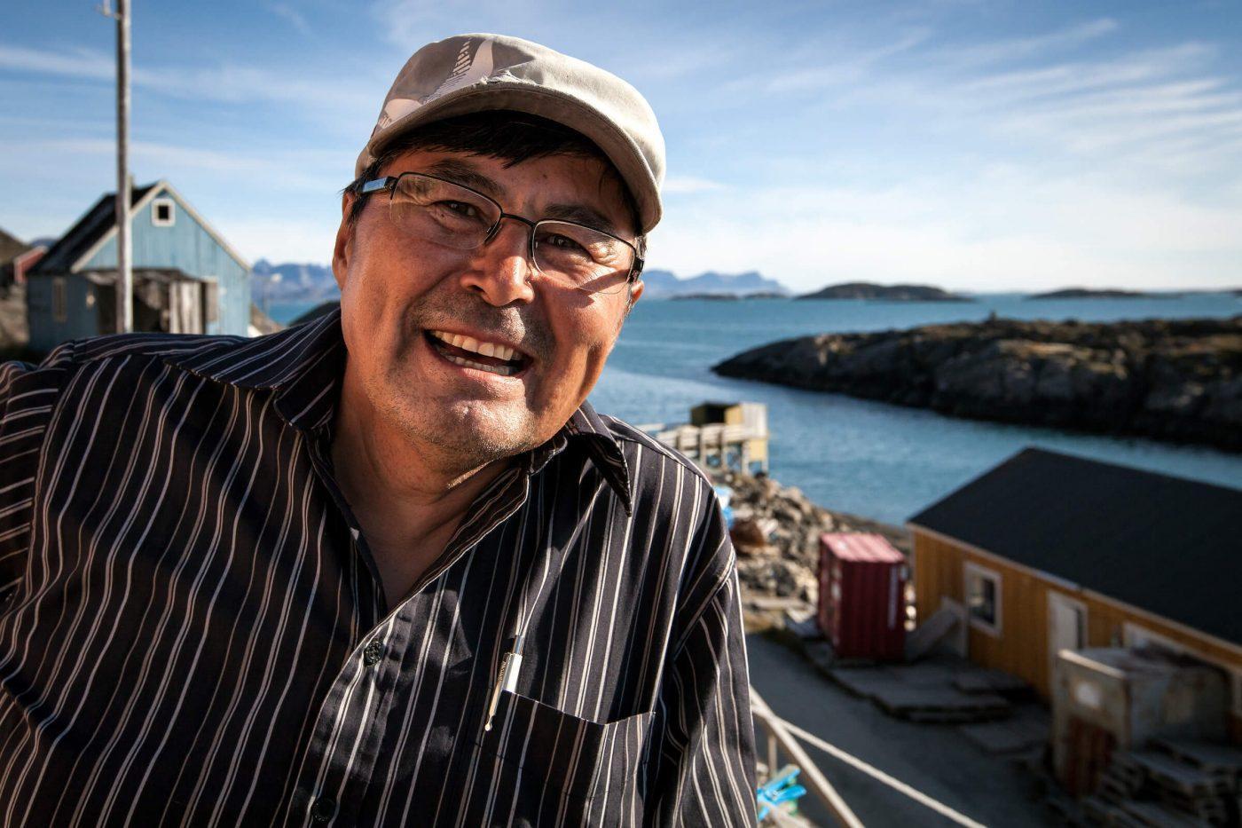 Kangaamiut school principal Barnabas Larsen from Greenland. Photo by Mads Pihl