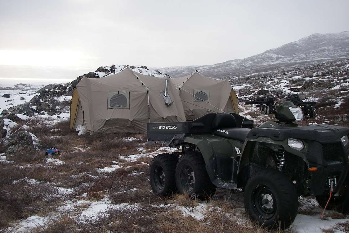 ATV at hunting camp in Kangerlussuaq, Greenland. Photo by North Safari Outfitters