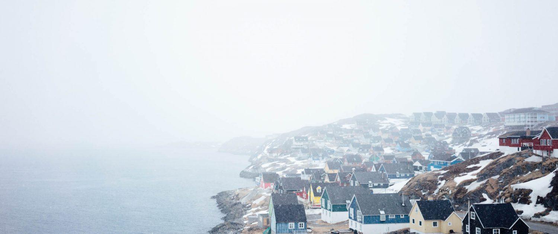 It's snowing in Nuuk. Photo by Jessie Brinks Evans