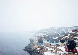 It's snowing in Nuuk. Photo by Jessie Brinks Evans