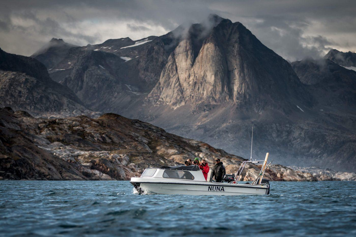 Photographers on a tour with Travellodge Greenland and Isafold Travel in East Greenland near Kulusuk. By Mads Pihl