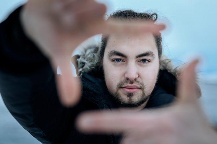 Portrait of greenlandic filmmaker Ulannaq Ingemann. Photo by Rebecca Gustafsson