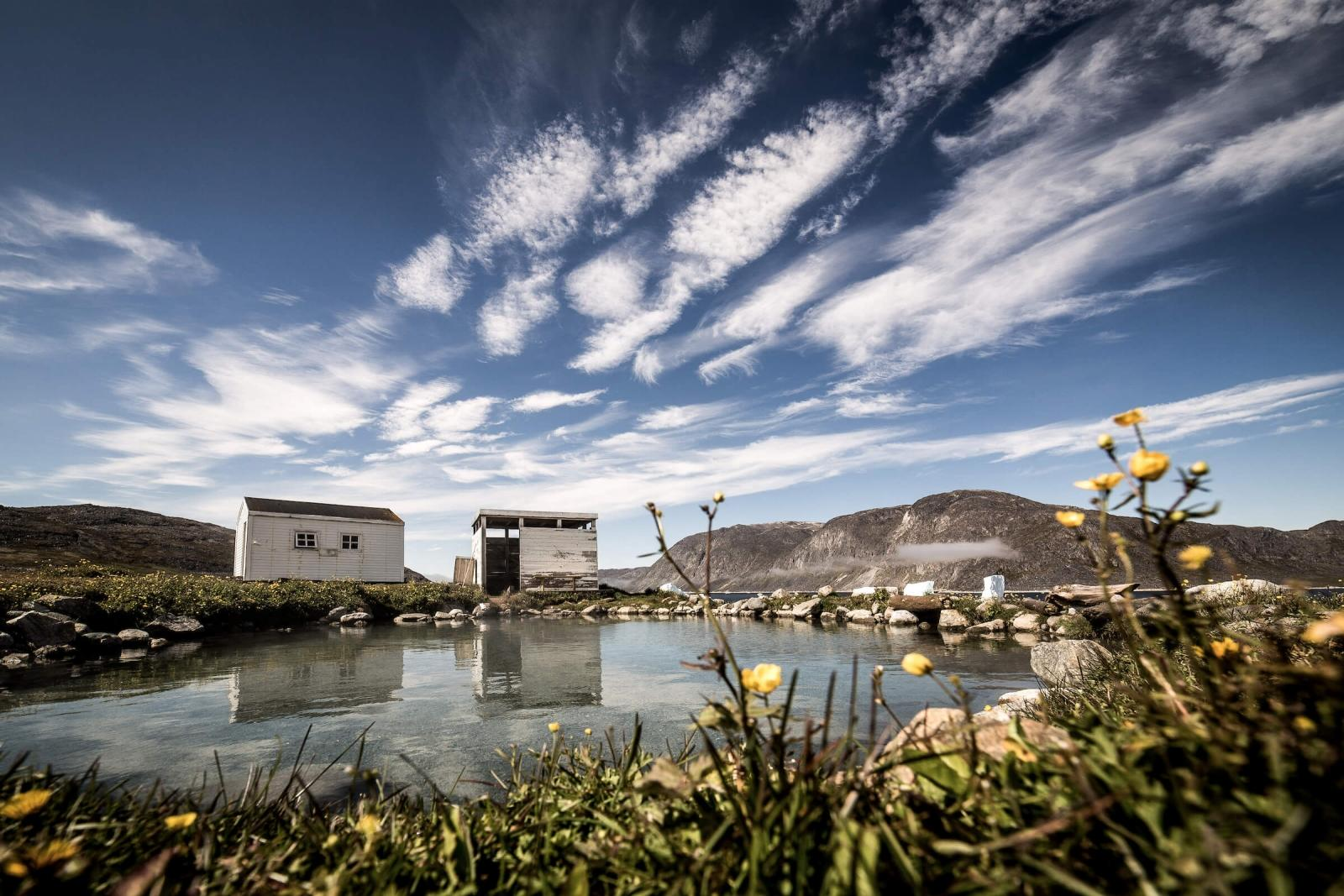 The relaxing setting of the Uunartoq hot springs in South Greenland