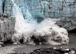 The Russell Glacier near Kangerlussuaq in Greenland calving in late summer, by Mads Pihl