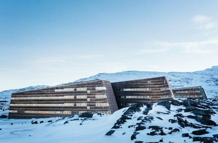 The University of Greenland on a winter december day in Nuuk in Greenland, by Rebecca Gustafsson