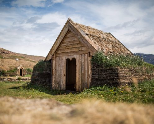 Tjodhilde's church - a reconstruction of church from the norse presence in Greenland 1,000 years ago. By Mads Pihl