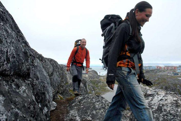 People hiking near Nuuk. Photo by Tupilak Travel, Visit Greenland