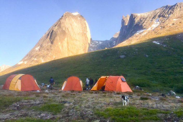 People camping at the Tasermiut Camp. Visit Greenland