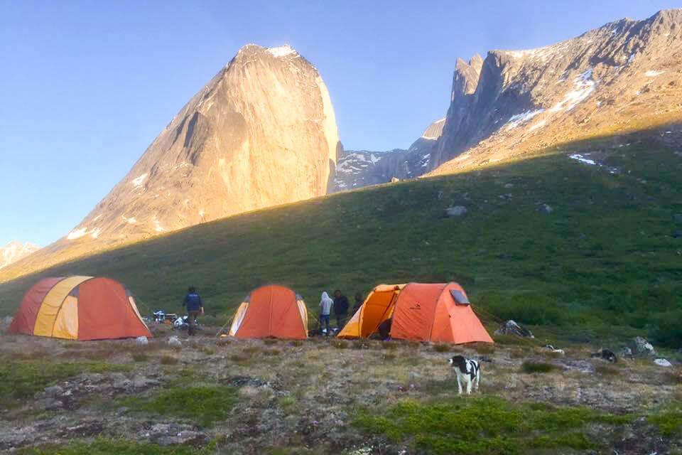 People camping at the Tasermiut Camp. Visit Greenland