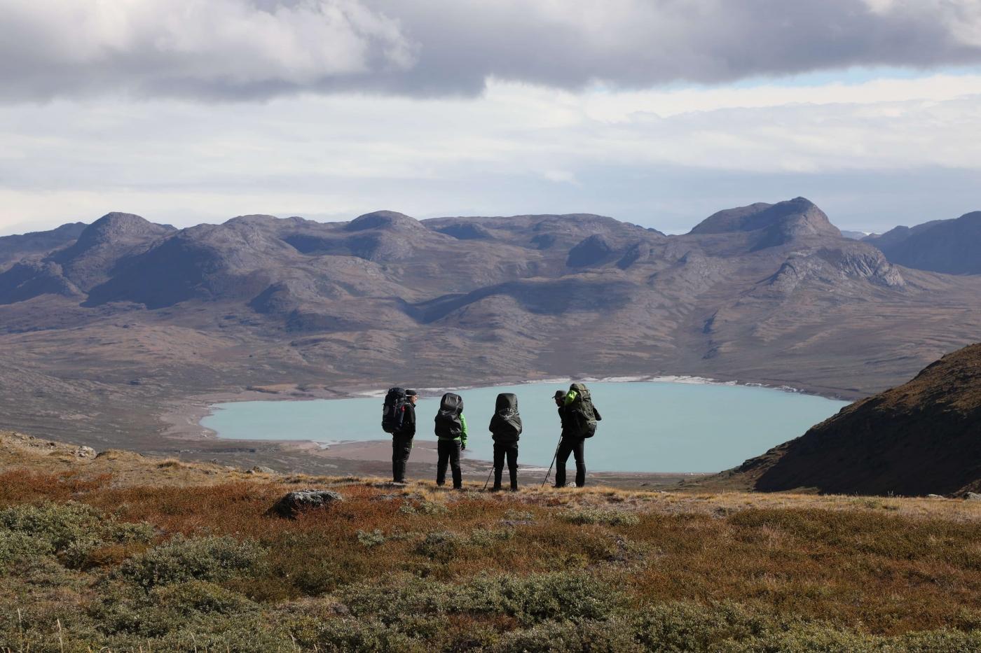 Hikers in Aasivissuit UNESCO area close to Kangerlussuaq Photo by Morten Christensen - Visit Greenland