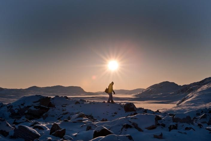 Hiking near Kangerlussuaq. Photo by Humbert Entress - Visit Greenland