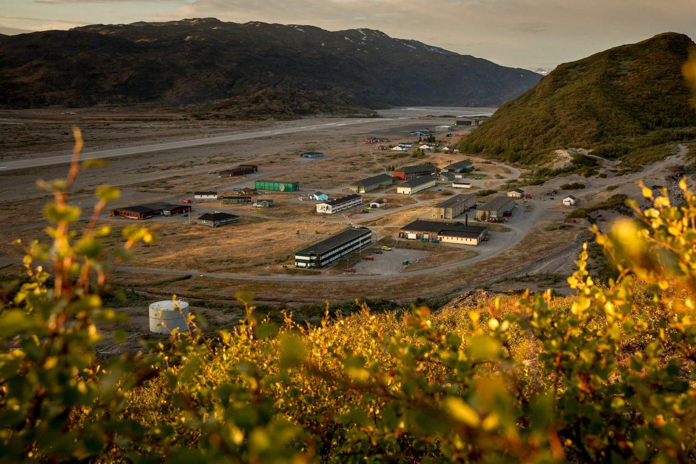 Narsarsuaq in South Greenland at sunset. Photo by Mads Pihl.