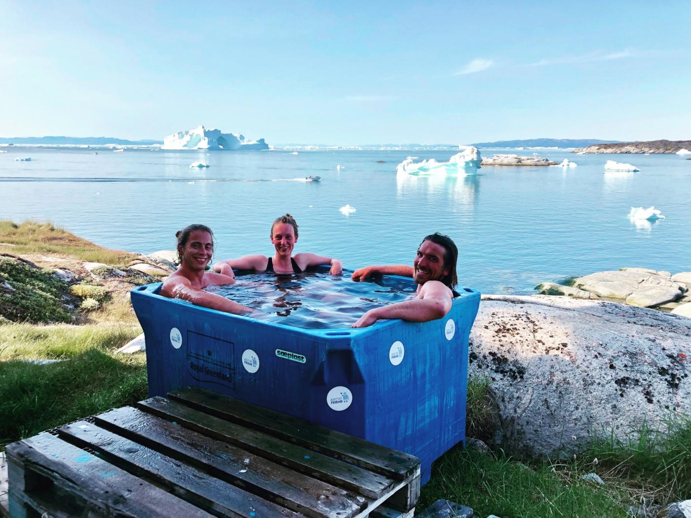 Cold tub. Photo by Ilulissat Guesthouse