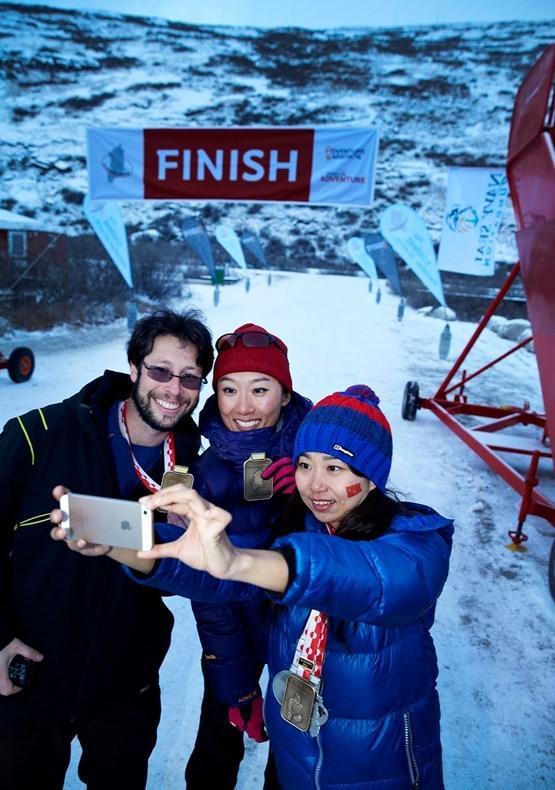 Polar Circle Marathon Selfie. By Visit Greenland